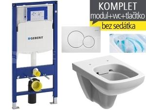Závěsný WC komplet T-06 Duofix + Nova Pro RIMFREE klozet závěsný pravoúhlý 53 cm