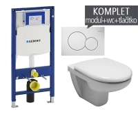 Závěsný WC komplet T-06 Duofix + Olymp klozet závěsný, T-06 JOL, Geberit