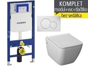 Závěsný WC komplet T-06 Duofix + Pure klozet závěsný 54 cm
