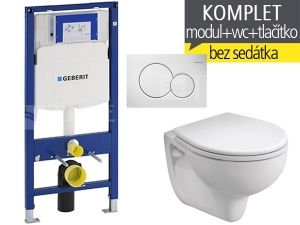 Závěsný WC komplet T-06 Duofix + Rekord klozet závěsný 52 cm