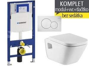 Závěsný WC komplet T-06 Duofix + The Gap klozet závěsný 54 cm