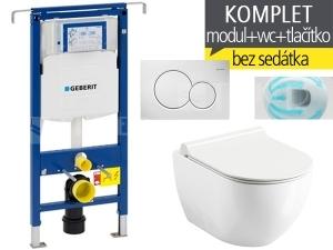 Závěsný WC komplet T-07 Duofix Special + Chrome UNI RIMOFF klozet závěsný 51 cm