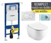 Závěsný WC komplet T-07 Duofix Special + Chrome UNI RimOff klozet závěsný, T-07 RCR, Geberit
