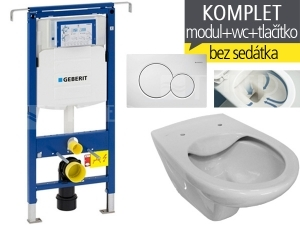 Závěsný WC komplet T-07 Duofix Special + Dino RIMLESS klozet závěsný 53 cm