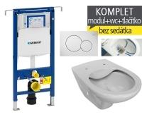 Závěsný WC komplet T-07 Duofix Special + Dino Rimless klozet závěsný, T-07 JDR, Geberit