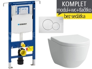 Závěsný WC komplet T-07 Duofix Special + Laufen Pro klozet kapotovaný