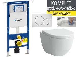 Závěsný WC komplet T-07 Duofix Special + Laufen Pro RIMLESS klozet závěsný 53 cm