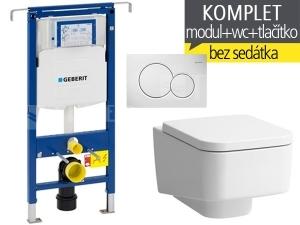 Závěsný WC komplet T-07 Duofix Special + Laufen Pro S klozet závěsný 53 cm