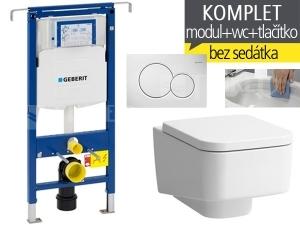 Závěsný WC komplet T-07 Duofix Special + Laufen Pro S RIMLESS klozet závěsný 53 cm