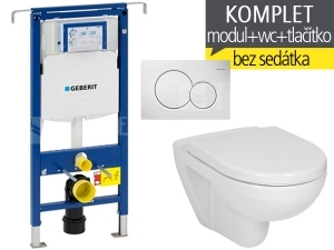 Závěsný WC komplet T-07 Duofix Special + Lyra plus klozet závěsný 53 cm