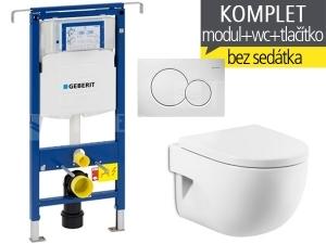 Závěsný WC komplet T-07 Duofix Special + Meridian Compact klozet závěsný 48 cm