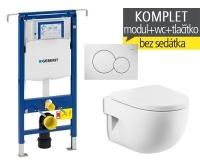 Závěsný WC komplet T-07 Duofix Special + Meridian compact klozet závěsný, T-07 RMC, Geberit