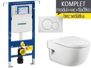 Závěsný WC komplet T-07 Duofix Special + Meridian klozet závěsný 56 cm
