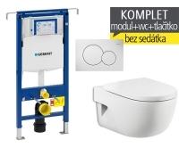 Závěsný WC komplet T-07 Duofix Special + Meridian klozet závěsný, T-07 RME, Geberit