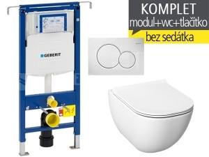 Závěsný WC komplet T-07 Duofix Special + Mio-N klozet závěsný 53 cm