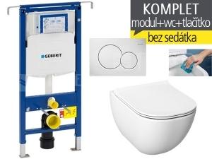 Závěsný WC komplet T-07 Duofix Special + Mio-N RIMLESS klozet závěsný 53 cm
