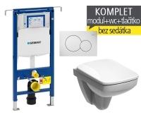 Závěsný WC komplet T-07 Duofix Special + Nova Pro Compact klozet závěsný pravoúhlý, T-07 KNP C, Geberit