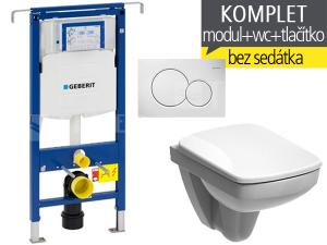 Závěsný WC komplet T-07 Duofix Special + Nova Pro Pico klozet závěsný pravoúhlý 48 cm