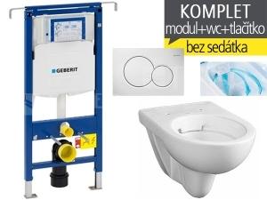 Závěsný WC komplet T-07 Duofix Special + Nova Pro RIMFREE klozet závěsný oválný 53 cm