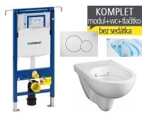 Závěsný WC komplet T-07 Duofix Special + Nova Pro Rimfree klozet závěsný oválný, T-07 KNR O, Geberit