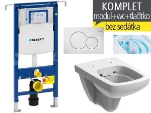 Závěsný WC komplet T-07 Duofix Special + Nova Pro RIMFREE klozet závěsný pravoúhlý 53 cm