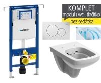 Závěsný WC komplet T-07 Duofix Special + Nova Pro Rimfree klozet závěsný pravoúhlý, T-07 KNP P, Geberit