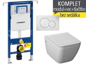 Závěsný WC komplet T-07 Duofix Special + Pure klozet závěsný 54 cm