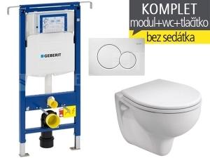 Závěsný WC komplet T-07 Duofix Special + Rekord klozet závěsný 52 cm