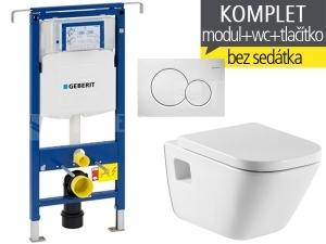 Závěsný WC komplet T-07 Duofix Special + The Gap klozet závěsný 54 cm