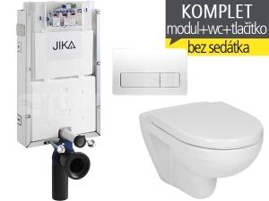 Závěsný WC komplet T-10 JIKA pro zazdění + Lyra plus klozet závěsný 53 cm