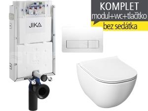 Závěsný WC komplet T-10 JIKA pro zazdění + Mio-N klozet závěsný 53 cm