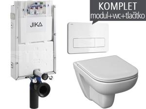 Závěsný WC komplet T-10 JIKA pro zazdění + Olymp Deep klozet závěsný