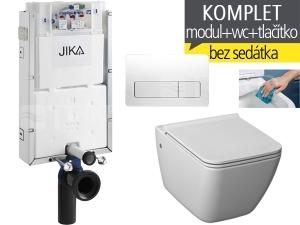 Závěsný WC komplet T-10 JIKA pro zazdění + Pure klozet závěsný