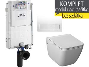 Závěsný WC komplet T-10 JIKA pro zazdění + Pure klozet závěsný 54 cm