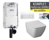 Závěsný WC komplet T-10 JIKA pro zazdění + Pure klozet závěsný, T-10 JPU, Jika