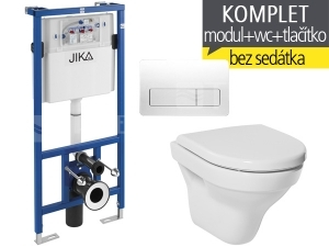 Závěsný WC komplet T-11 JIKA do sádrokartonu + Tigo klozet závěsný 49 cm