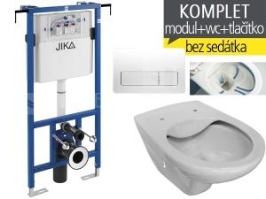 Závěsný WC komplet T-12 JIKA do bytových jader + Dino Rimless klozet závěsný