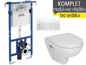 Závěsný WC komplet T-12 JIKA do bytových jader + Lyra plus compact klozet závěsný 49 cm
