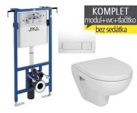 Závěsný WC komplet T-12 JIKA do bytových jader + Lyra plus compact klozet závěsný, T-12 JLC, Jika