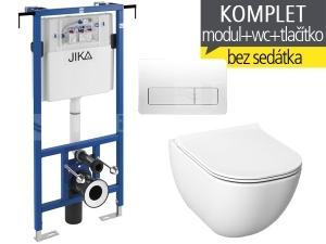 Závěsný WC komplet T-12 JIKA do bytových jader + Mio-N klozet závěsný 53 cm