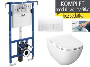 Závěsný WC komplet T-12 JIKA do bytových jader + Mio-N Rimless klozet závěsný