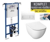 Závěsný WC komplet T-12 JIKA do bytových jader + Mio-N Rimless klozet závěsný, T-12 JMR, Jika