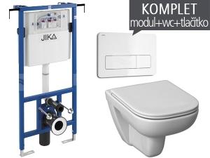 Závěsný WC komplet T-12 JIKA do bytových jader + Olymp Deep klozet závěsný