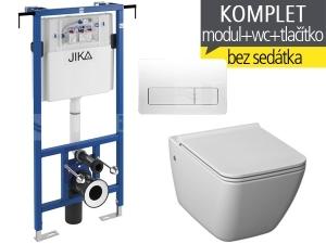Závěsný WC komplet T-12 JIKA do bytových jader + Pure klozet závěsný 54 cm