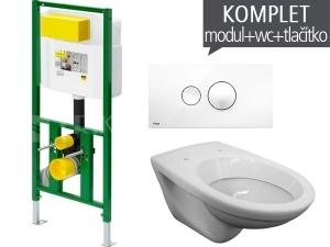 Závěsný WC komplet T-21 Viega do sádrokartonu + EP klozet závěsný