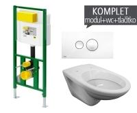 Závěsný WC komplet T-21 Viega do sádrokartonu + EP klozet závěsný, T-21, Viega