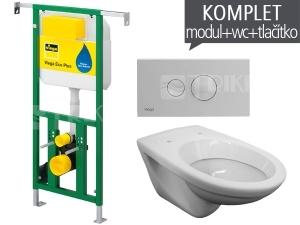 Závěsný WC komplet T-22 Viega do bytových jader + EP klozet závěsný
