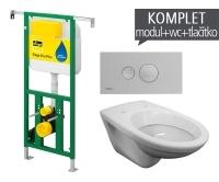 Závěsný WC komplet T-22 Viega do bytových jader + EP klozet závěsný, T-22, Viega