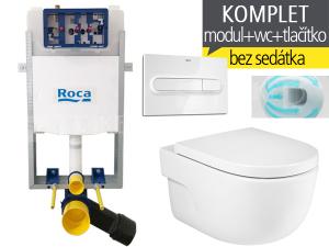 Závěsvý WC komplet T-40 Roca pro zazdění + Meridian Rimless
