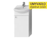 Zeta skříňka s 1 dveřmi pod umyvadlo 40 cm bílá, H4555020393001, Jika